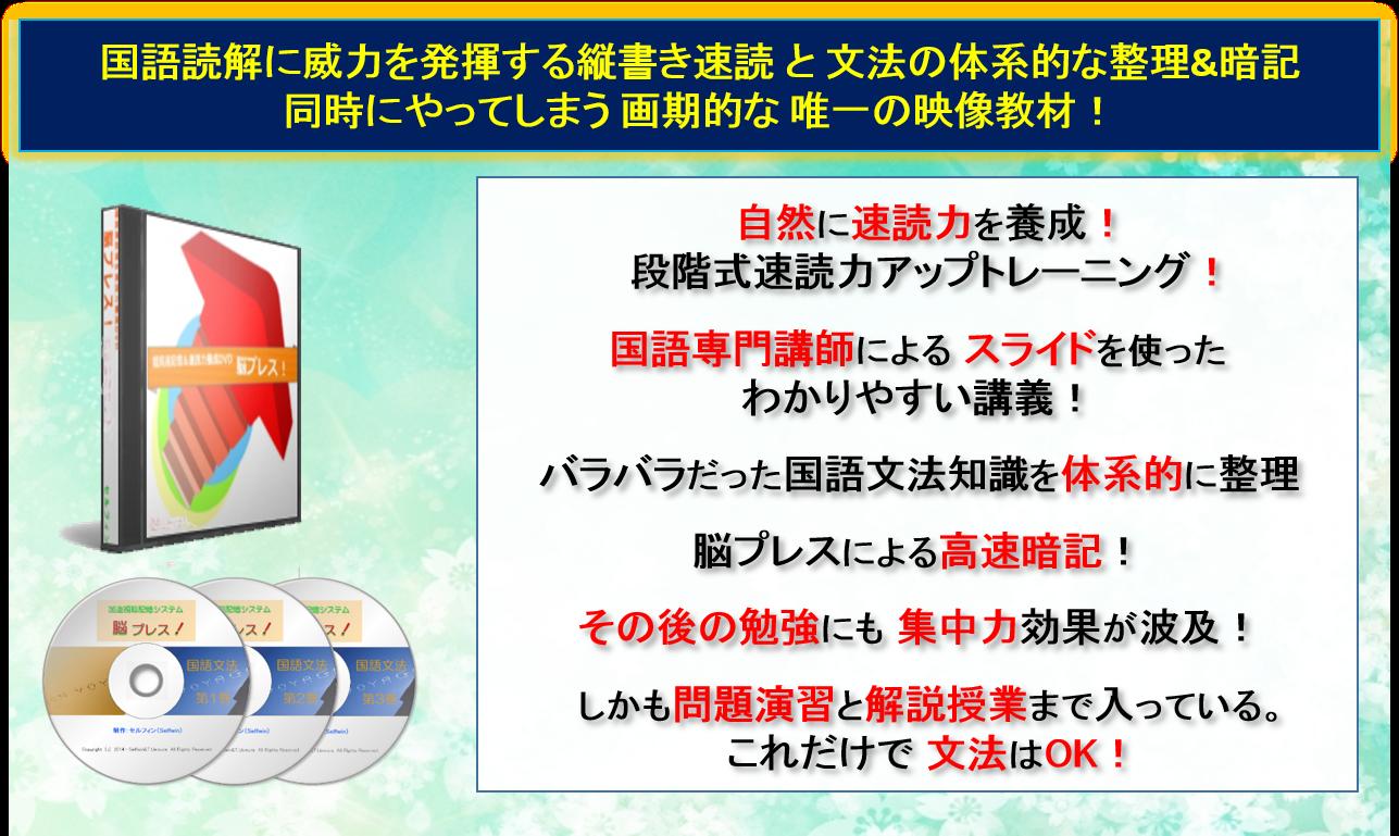 授業&脳プレス 縦書き速読&国語文法編