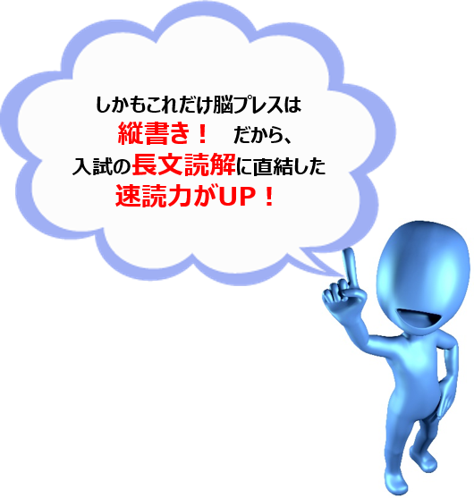 縦書き長文読解速読力養成 国語文法授業&脳プレス