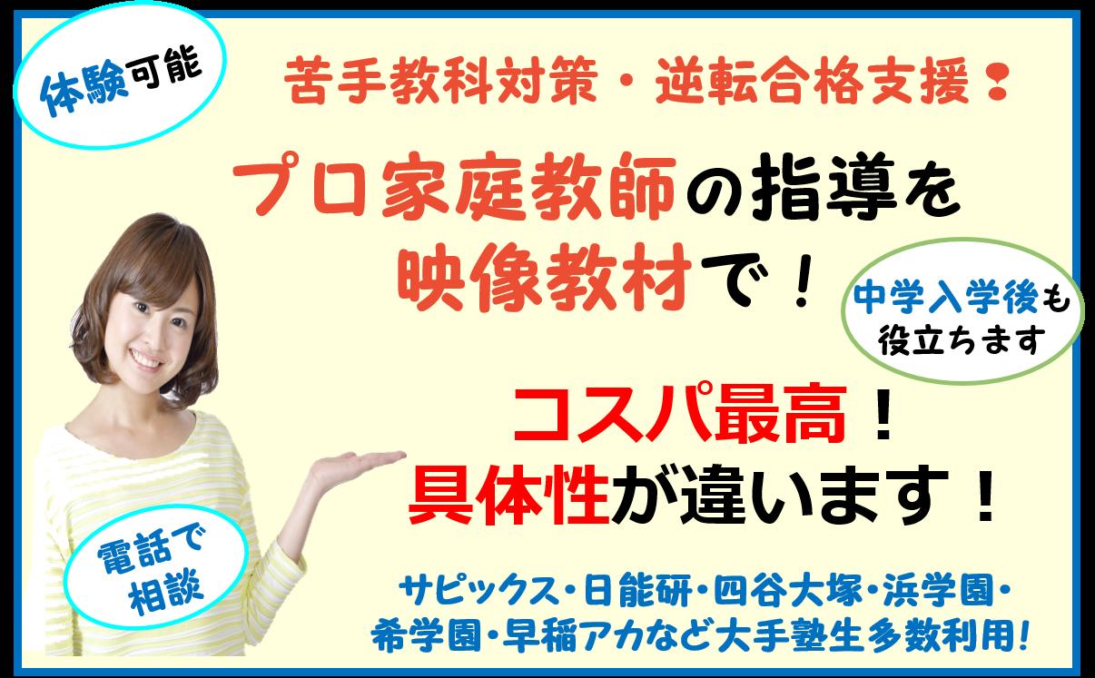 中学受験 大逆転支援教材 DVD CD