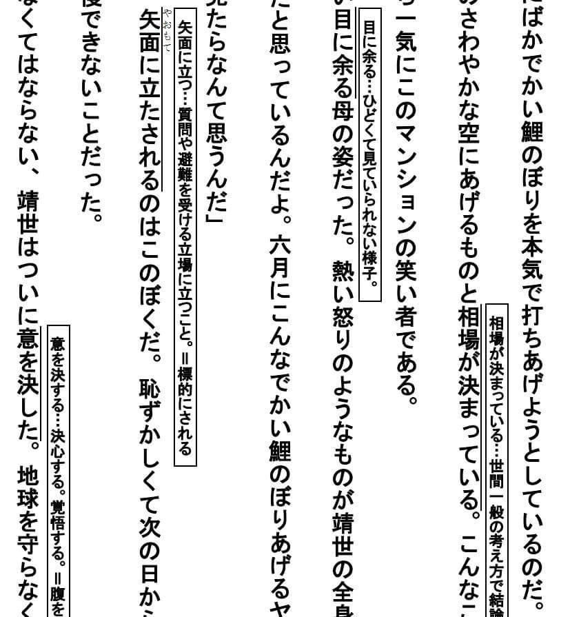 中学受験物語 抜粋